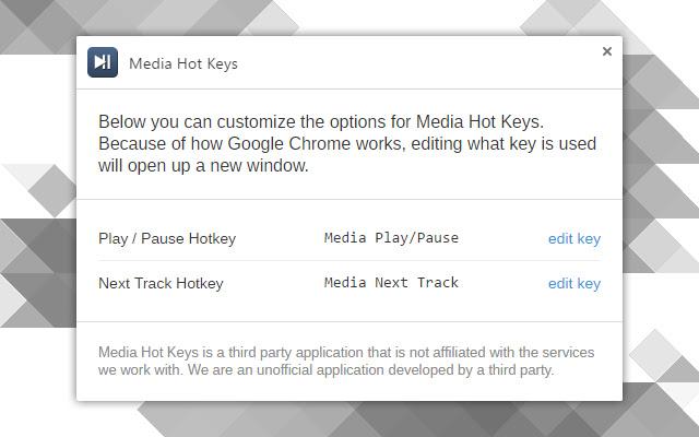 Media Hot Keys