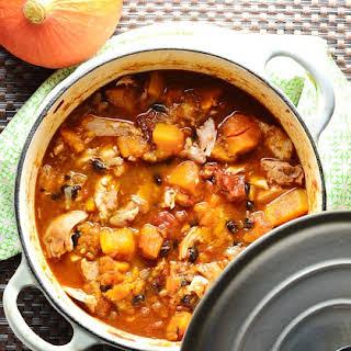 Butternut Squash Chicken Stew with Black Beans.