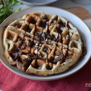 Chocolate Almond Gluten Free Waffle