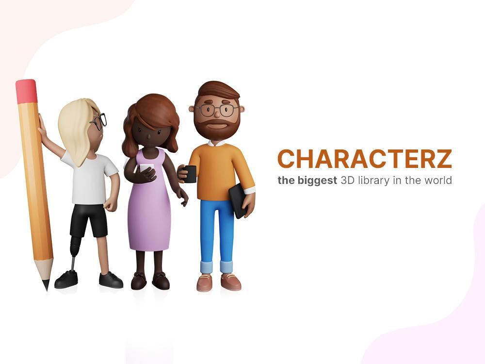 CHARACTERZ — The Biggest 3D Characters Library