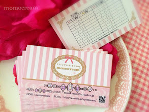Photo: mono-cream様ご予約カード