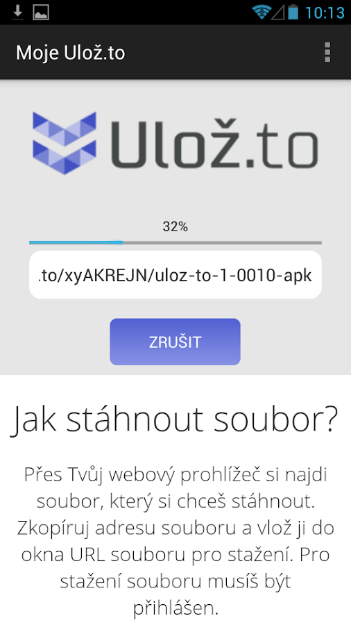 Moje Ulož.to- screenshot