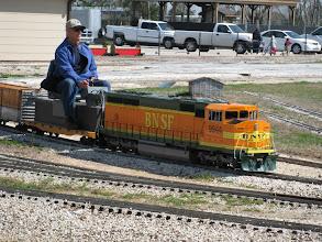 Photo: Chris Schieck on Hannah's loco.  HALS 2009-0228