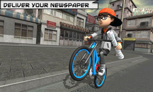 Bicycle Rider Racer Throw Paper in Bicycle Games 0.9 de.gamequotes.net 2