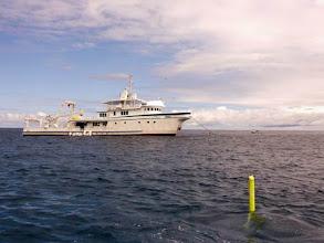 Photo: Le Sea Hunter à Cocos Islang (2010)