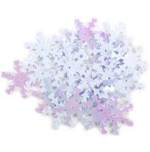 Snowflake Sequins 2.5cm 30/Pkg - White Iridescent UTGÅENDE