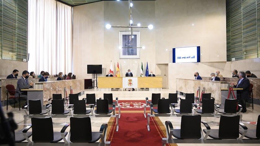 Sesión plenaria presencial antes de que llegaran las telemáticas