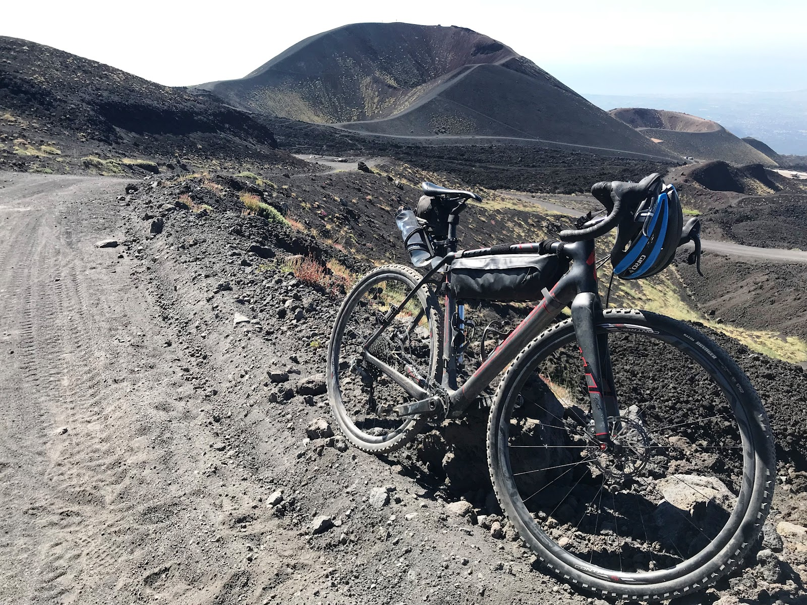Specialized Crux bike on road to Mount Etna, Sicily, Italy