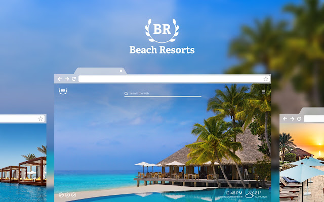 Beach Resorts HD Wallpaper New Tab Theme
