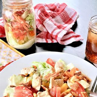 Chicken BLT Shaker Salad #PicnicDay #FestiveFoodies.