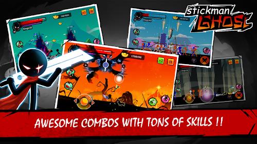 Screenshot 1 Stickman Ghost: Ninja Warrior: Action Game Offline 1.8 APK+DATA MOD