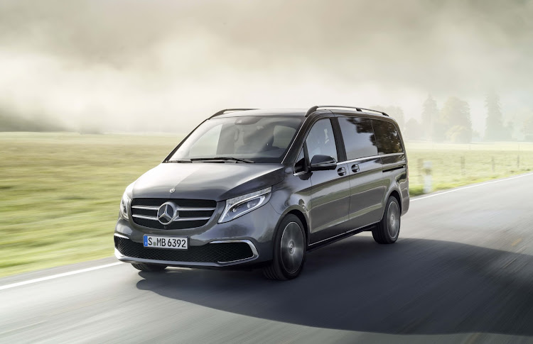 Changes to the V-Class are minimal, including a slightly revised front grille and bumper. Picture: SUPPLIED