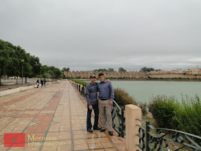 Photo: at the Basin of the Norias (Sahrij Swani) in Meknes with Ibrahim of Roughtours