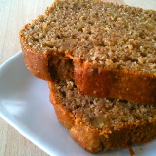 Moist Whole Wheat Applesauce Banana Bread