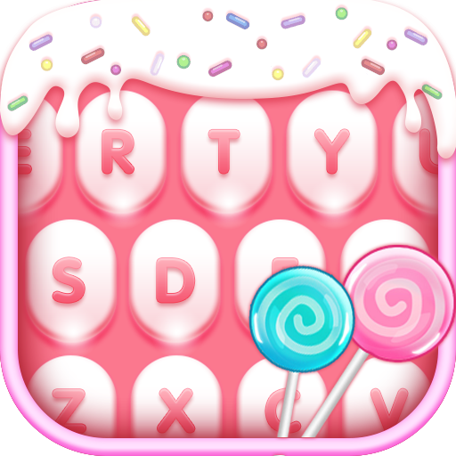 Pink ice cream keyboard