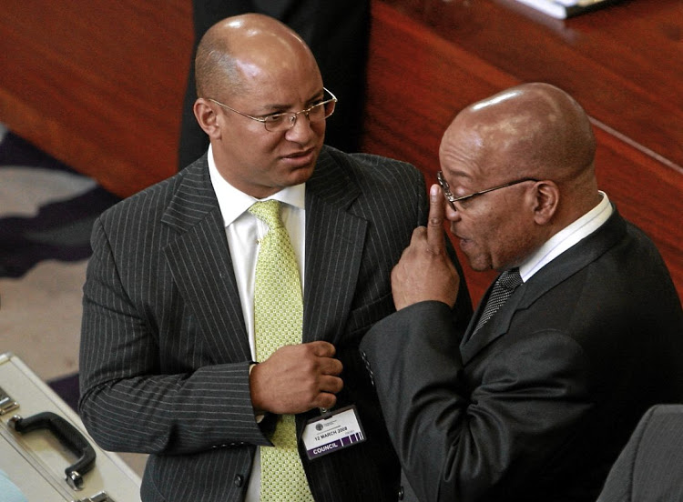 Jacob Zuma with his now former attorney Michael Hulley