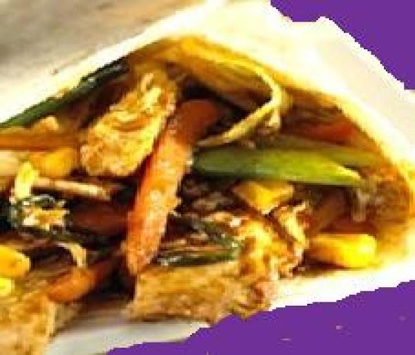 Easy Moo Shu Vegetable Wraps-  Low Fat Recipe