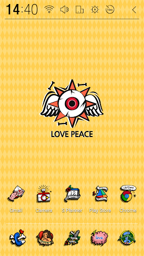 LOVE PEACE Atom Theme
