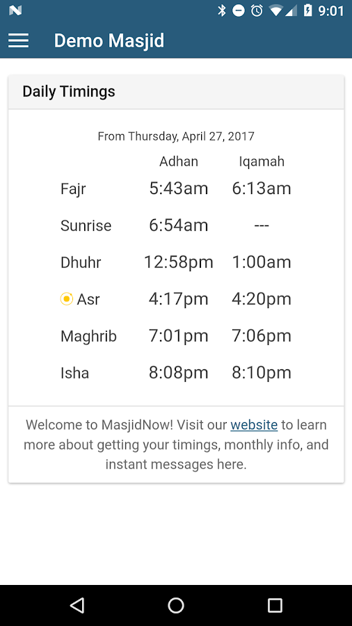 MyMasjid - Iqamah & More- screenshot