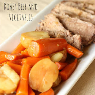 Slow Cooker Roast Beef and Vegetables.