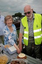 Photo: Wendy Gladwin and Peter Nightingale cut the cake