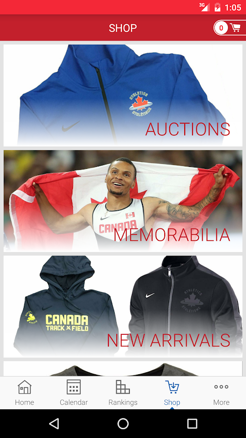 Athletics Canada- screenshot
