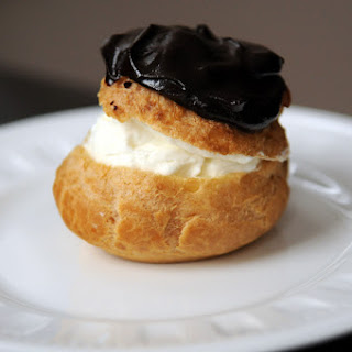 Cream Puffs with Whipped Cream and a Chocolate Ganache