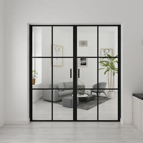 Industrivägg Dörr + dörr svart