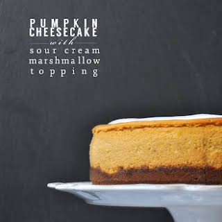 Pumpkin Cheesecake with Marshmallow Sour Cream Topping (Bon Appetit, 2008).