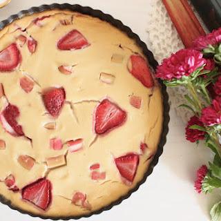 Vegan Strawberry Rhubarb Clafoutis Recipe