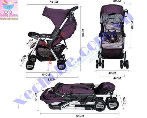 Xe đẩy em bé Prego 6508 3
