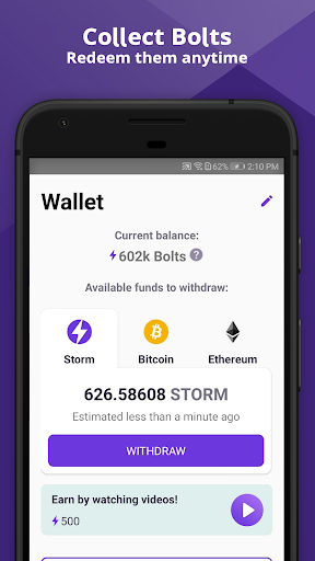 Storm Play - Crypto, Bitcoin & Ethereum for Free - screenshot