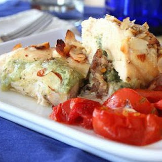 Cheesy Sausage and Basil Stuffed Chicken Breasts (Low Carb and Gluten Free).