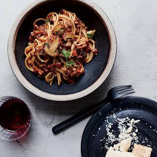 Spaghetti with Mushroom Bolognese.