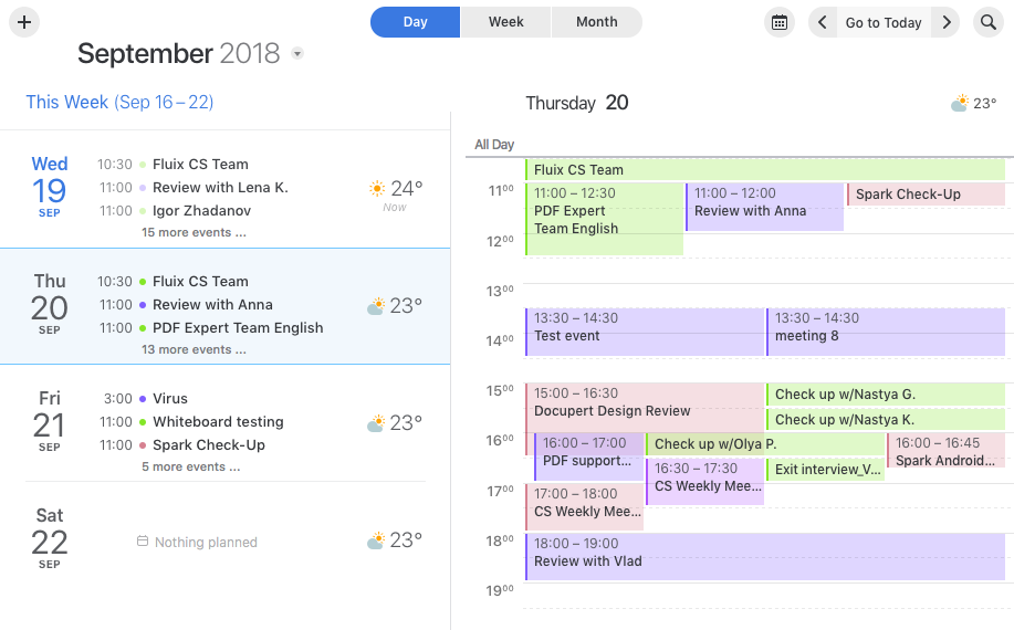 Use Calendar in Spark - Readdle Knowledge Base