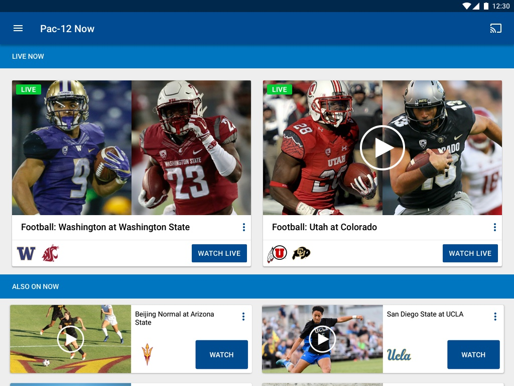 Pac-12 Now- screenshot