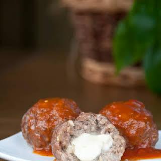 Mozzarella Stuffed Italian Meatballs.