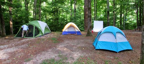 Photo: Tents: Park, Alexey, Mike