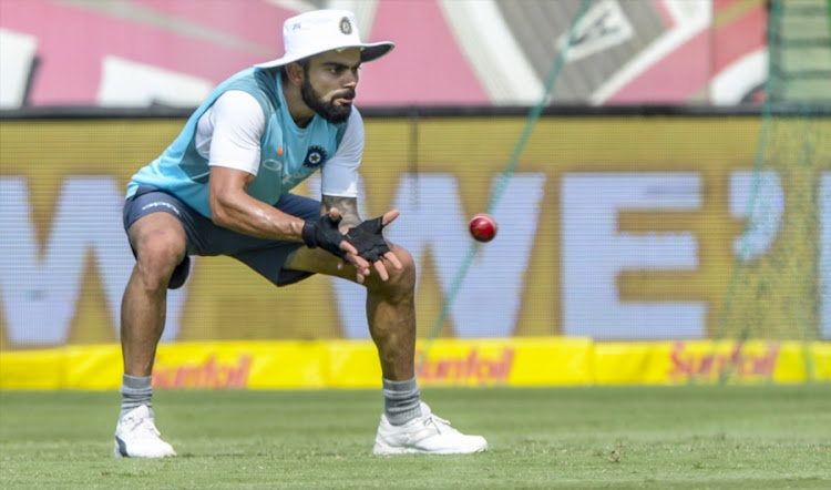 Captain Virat Kohli of India during the Indian national men's cricket team training session and press conference at SuperSport Park on January 12, 2018 in Pretoria, South Africa.