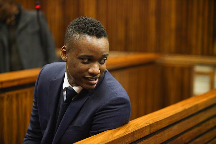 Duduzane Zuma appears at the Randburg Magistrate's Court in Johannesburg on July 12 2018.