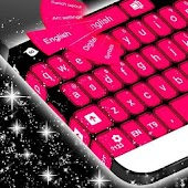 Pink Black Keyboard
