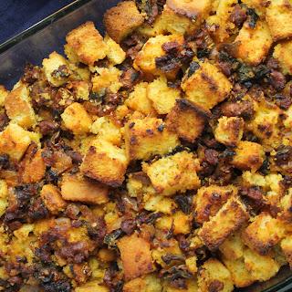 Cornbread, Chorizo, Poblano Stuffing.