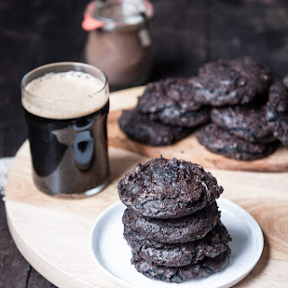Flourless Chocolate Stout Cookies