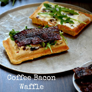 Coffee Bacon Waffle Sandwiches