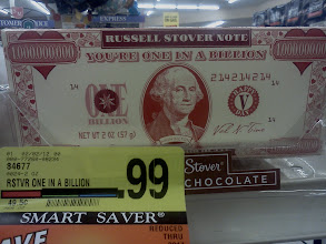 """Photo: I love this choclate bar, """"You're One In A Billion"""" and only 99 cents! I skipped on getting it though, I was already going to be buying a lot of sweets."""