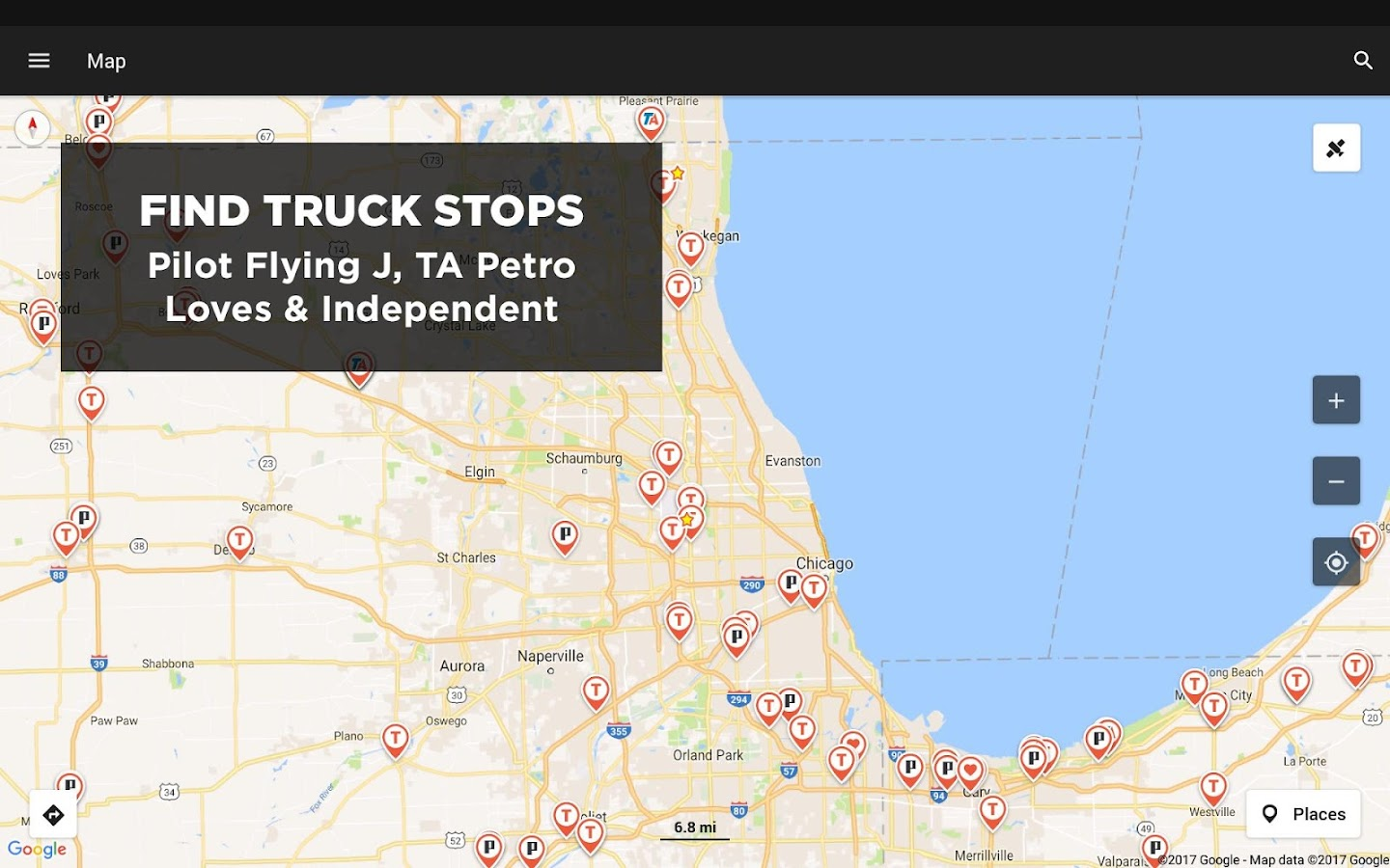 trucker path – truck stops  weigh stations screenshot. trucker path – truck stops  weigh stations  android apps on