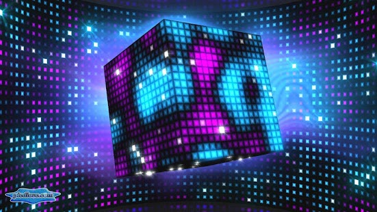 Bright Sparkling Pixel Cube 3D- screenshot thumbnail