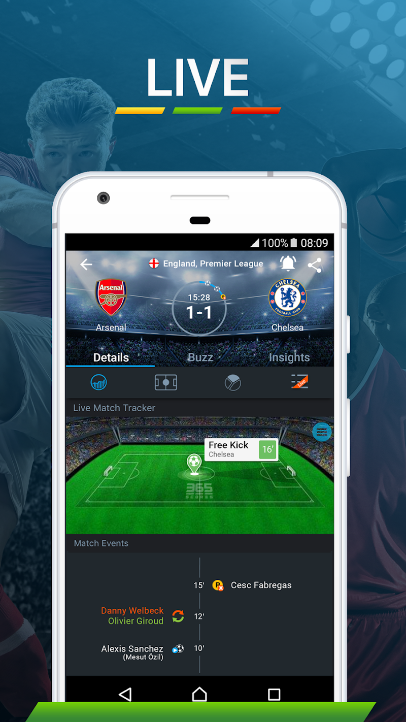 365Scores - Live Sports Score, News & Highlights Screenshot