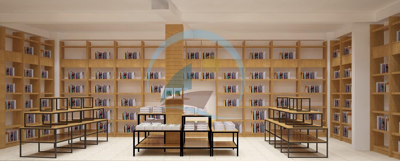 thiết kế nội thất nhà sách Trí Đức 11