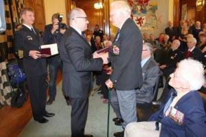 Photo: Presentation of the Ushakov Medal to Flotilla members 2014